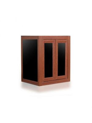 NUVO APS Lagoon 50 Aquarium Wood Finish Aluminum Profile (Stand Only) - Innovative Marine