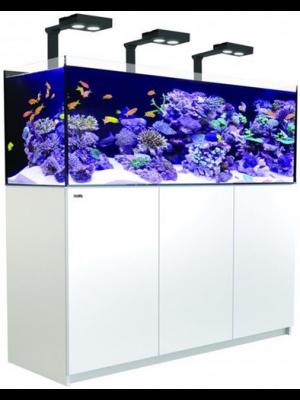 Reefer DELUXE 450 - 116 Gallon Aquarium WHITE or Black w/Three Hydra 26 HD LED - Red Sea
