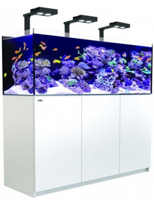 Reefer DELUXE 450 - 116 Gallon Aquarium WHITE or Black w/Three Hydra 26 HD LED - Red Sea