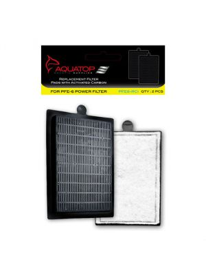 PFE-6RCI Replacement Filter Inserts with Activated Carbon - AquaTop