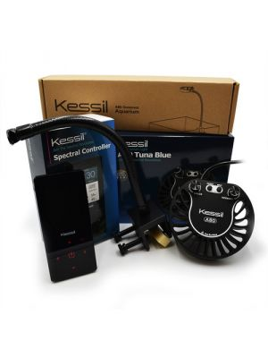 A80 Tuna Blue Complete Kit - Saltwater LED with Gooseneck & Spectral Controller - Kessil
