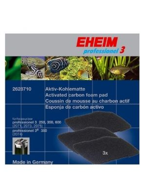 Replacement Carbon Pad 3 Pack for All Pro3, Ultra, & Pro 4 Filters - Eheim
