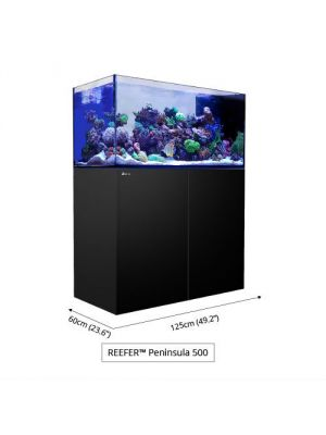 White Reefer 132 Gallon Complete System Peninsula P500 Deluxe  w/3 Hydra 26 HD  Red Sea