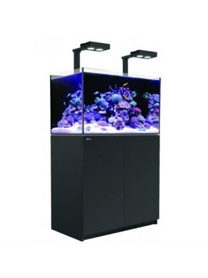 Reefer DELUXE 350 - 91 Gallon Aquarium Black w/Two Hydra 26 HD LED - Red Sea