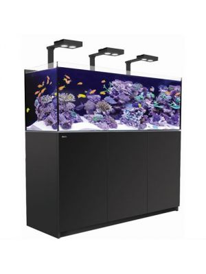 139 Gallon Aquarium Black w/Three Hydra 26 HD LED  Reefer DELUXE 525 XL Red Sea